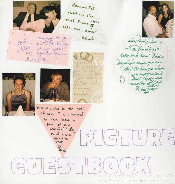 Scrapbooker for Hire Creates Personalized Scrapbook Pages for Weddings