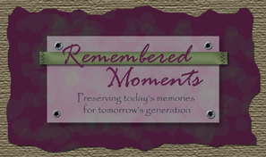 Custom Made Scrapbooks by Remembered Moments Logo